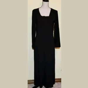 J Jill Black Maxi Dress Stretch Petite Small Long